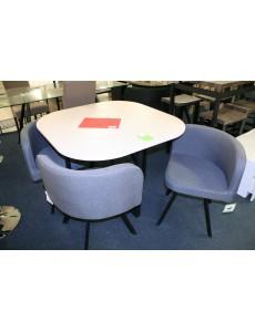 SET TABLE + 4 CHAISES BIARITZ