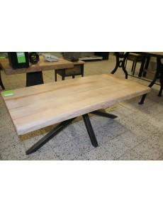 TABLE DE SALON FRÊNE/MÉTAL